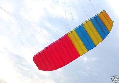 New Dual Line Sports Soft Kite-Parafoil Power Kite 3 meters +string Sport Power Singe Line kite 45(China (Mainland))