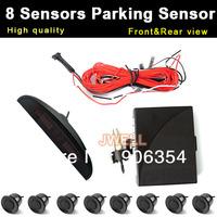 8 Sensors Car LED Parking Sensor Monitor Auto Reverse Backup Radar Detector System Free Shipping Wholesale