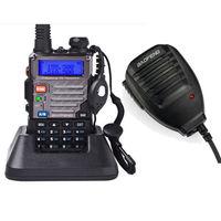Free Shipping!!Handheld Mic+2014 BaoFeng UV-5RE Dual-Band 136-174/400-480 MHz FM Ham Two-way Radio New Walkie talkie