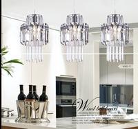 New Modern crystal pendant light creative led pendant light With three light