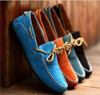 2014 New Men's England Casual Suede Flats Shoes Driving shoes Slip On Loafers xx55