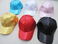 On sale Adult child general paillette hat hiphop hip-hop baseball cap hat