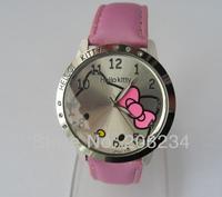 Wholesale,2014 Hot New Cute Fashion Hello Kitty Ladies Girls Quartz Wrist Watches,Mix Colors Gift watch 10 pcs/lot,free shipping