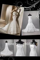 LB2962 Best Design Ivory Full Lace Strapless Scalloped Bridal Wedding Dress,Fashion Elegant Bridal Wedding Gown Free Shipping