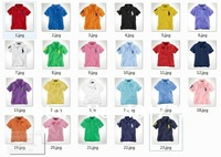 BNWT kids  shirt 2014  spring  embroidery  soild color  cotton  short sleeve for   2-11 years  boys/ Girls  23 color