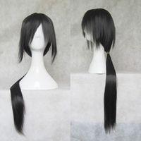 Cartoon characters Uchiha Itachi 80CM long straight black wig COSPLAY