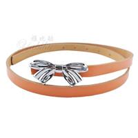 Chromophous women's belt bow plate buckle casual strap all-match pidai