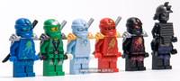 6 pcs/pack DECOOL Ninjago Building Blocks Toys Ninja COLE/JAY/KAI/ZANE/Lloyd/Garmadon PVC Mini Figure Block Toy For Kids Boxed