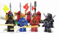 4 pcs/pack DECOOL Ninjago Building Blocks Toys Ninja COLE/JAY/KAI/General Cryptor PVC Mini Figure Block Toy For Kids New In Box