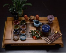 Binglie glazed ceramic tea sets special offer free shipping purple kung fu tea set of wooden