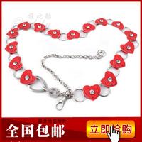 Women's waist decoration diamond decoration heart stainless steel decoration belt belly chain
