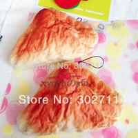 15pcs/Lot .10x15cm New Jumbo French Toast Rabanada Squishy Phone Charm / Wrist Pad