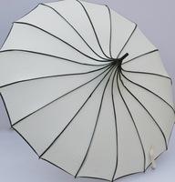 Solid color anti-uv vintage royal pagoda umbrella dual-use fashion princess long-handled umbrella