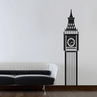 Wall Decal Big Ben Clock Vinyl Wall Art Sticker - Living Room Nursery Bedroom Wall Sticker  Home 42cmX200cm  Free Shipping