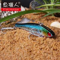 Fish Hunter 2pcs/lot 90mm 36g big trolling lure with VMC hooks sinking fishing hard plastic bait for fish