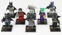 8 pcs/pack Marvel Building Blocks Toys Batman/Robin/Joker ABS Mini Figure Block Toy For Children New In Box