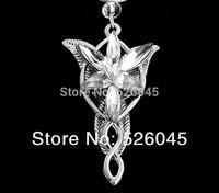 50pcs/lots Elijah Wood pendent neckalce 18K Gold  Pendant  Necklace Movie Arwen Evenstar Necklace Silver/Gold women's Necklace