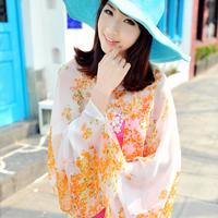 Factory New Arrival 2014 Brand Chiffon Sun Protection Anti-UV Pashmina Shawls Summer Scarf Sunscreen Wrap Women Free Shipping
