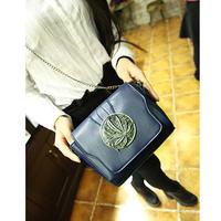 2014 fashion Clover chain bag female carved vintage mini messenger bag metal carved