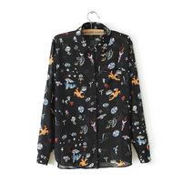 Wholesale 2013 Spring new women az universe Cartoon Ladies long-sleeved shirt shirt wp2105