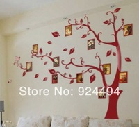 Free shipping Acrylic Crystal dimensional wall stickers decals bedroom living room TV sofa background decoration  [Frame Trees]