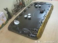 Ebony wood tea tray sculpture mahogany tea table mahogany wood Large kung fu tea sea