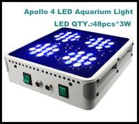 free ship Apollo 4 48*3W 120w 130w LED Aquarium Light For Coral and Reef Tank Aquarium LED Lighting Plant