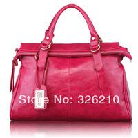 new fashion 2014 women bag genuine leather handbag messenger bag vintage motorcycle shoulder bag elegant formal women's handbag
