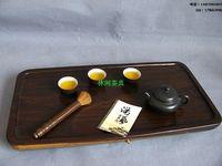 Ebony wood tea tray kung fu tea rosewood tea tray wood tea sea