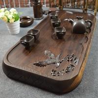 Teaberries ebony wood tea tray solid wood tea tray tea sea wenge green sandalwood teaberries mahogany