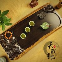 Ebony wood tea tray wood tea sea Large mahogany kung fu tea