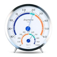 Stainless steel thermometer th602f high precision household thermometer hygrometer indoor thermometer