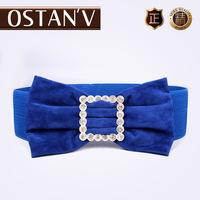 New arrival wide cummerbund female all-match clothing bow wide waist belt elastic strap