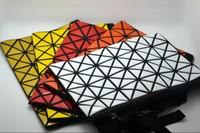 Fashion bao issey miyake geometry classic plaid bag clutch handbag