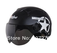 "Free Shipping ""Andes-X322-I"" 1/2 Style ABS Bicycle Ebike Half Face Casco Motorcycle Matt Pink Star Helmet & UV Lens For Summer"