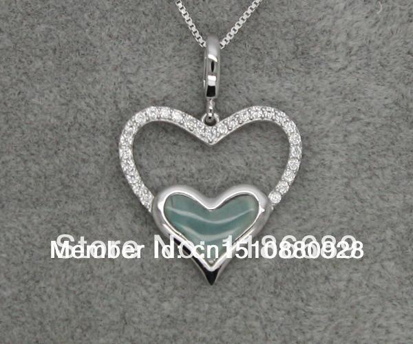 Blue cat eye silver pendant(China (Mainland))