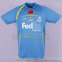 Li-Ning Men 2014 UYER Badminton /Tennis Chinese team national flag Lin Dan T-Shirt Free shipping
