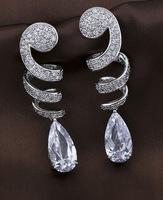 Emerald  Water Drop Dangle Earring,Great Design,AAA+ Cubic Zirconia Fashion Brand Zircon Earring FOR WOMEN GIRLS