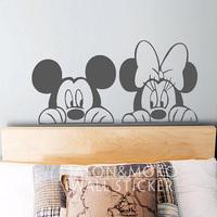 Mickey & Minnie Wall Decal -  vinyl  Wall Sticker  Home Decoration Vinyl Wall Stickers Art  40cmX80cm Free Shipping