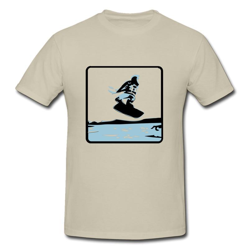 Wholesale Slim Fit T Men Kitesurfing Kitesurfer Kiting Surfing Windsurfing Kiten Design Cute Symbols T Shirts for Boy(China (Mainland))