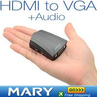 Good Quality MINIX NEO V1 HDMI to VGA Adapter With Audio hdmi switch hdmi to vga converter HK Post Freeshipping