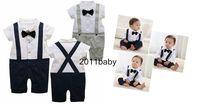 1pc New baby bodysuit boys Costume One Piece Gentleman size:0-24 Months
