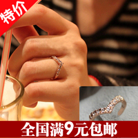 Accessories unique diamond ring little finger pinky ring female 2g
