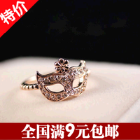 Accessories bohemia mask diamond small flowers masked ring finger ring jewelry female 5g