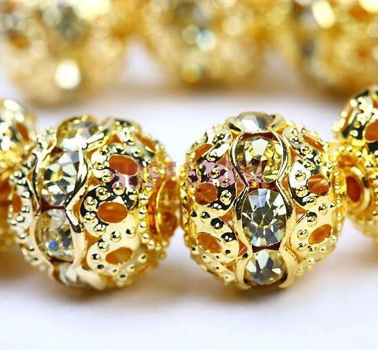 Shamballa 8 , Flower Ball Bead 015