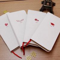 Korea stationery Natural linen Journal Notebook Retro Craft Paper nice books