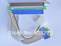 10pcs/lot 30cm PCI-E PCI-Express cable 1X TO 16X Riser Card Extender With Molex Power Jack | For Bitcoin  | pcie X1 TO X16 cable