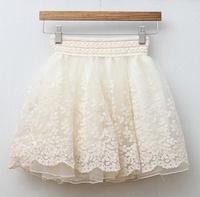 2014 new women skirts womens autumn and summer Retro lace skirt female princess gauze Puff skirt  ball gown r344