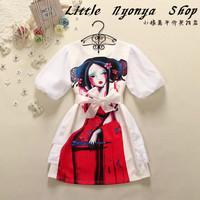 2014 new spring and summer print doll ruffle puff sleeve princess one-piece dress beautiful girl fashion cute bud dress