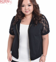 fashion Lace thin women coat plus size lace hollow out short jacket free shipping